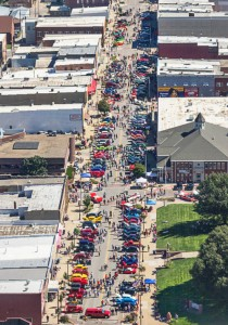 Aerial view of Applejack Festival, Nebraska City, Nebraska. Image courtesy Nebraska City Tourism & Commerce.